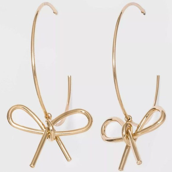 SUGARFIX BY BAUBLEBAR Gold Bow Hoop Earrings